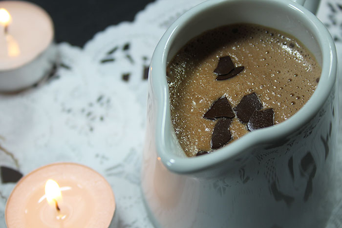 heiße cremige Schokolade