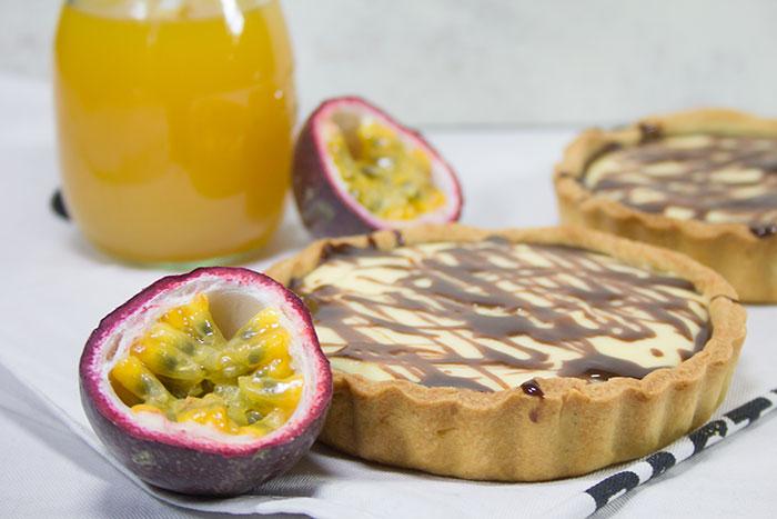 Passionsfrucht-Schokoladen-Tartelettes