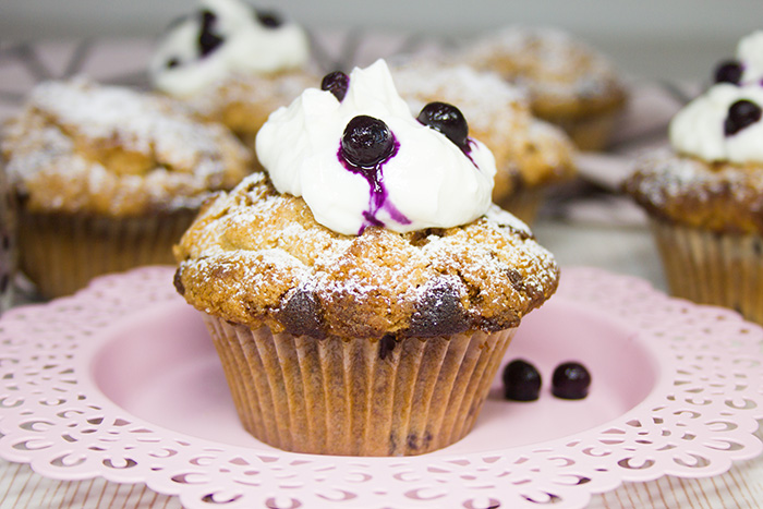 Heidelbeer-Crumble-Muffins