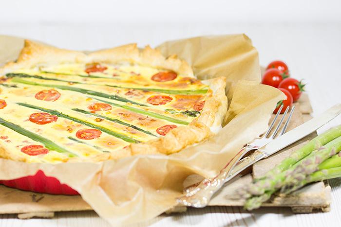 Spargel-Tomaten-Tarte