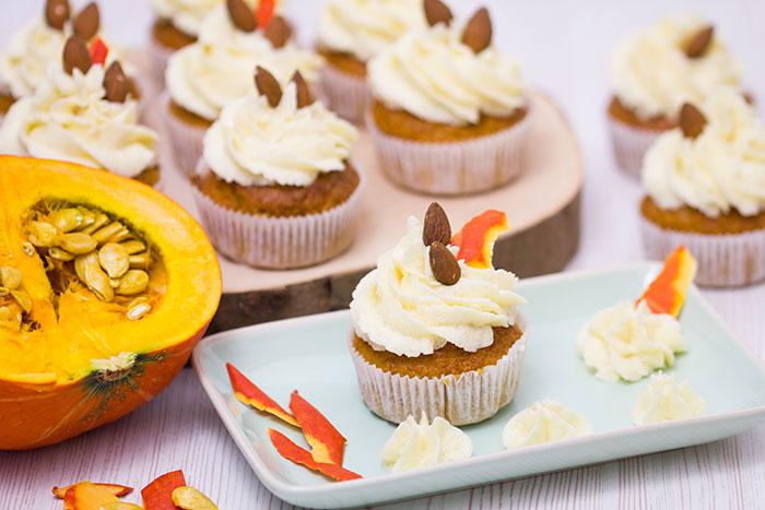 Kuerbis-Cupcakes