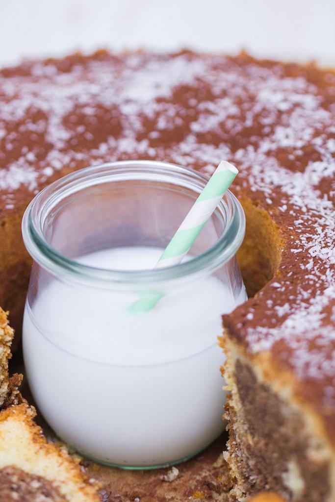 Nutella-Kokos-Marmorkuchen
