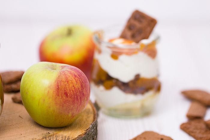 dessert im glas apfel zimt