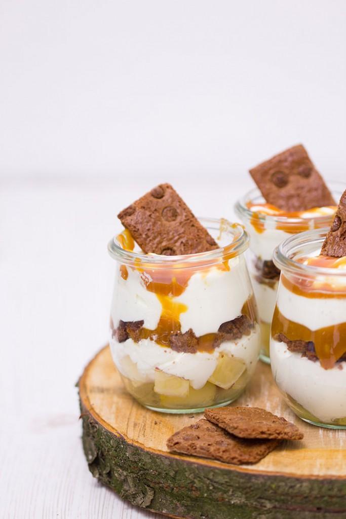 Apfel-Karamell-Dessert