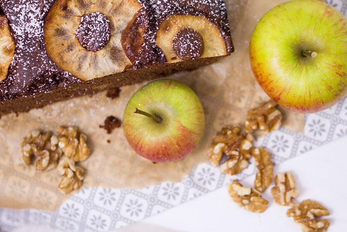 Apfel-Walnuss-Brownie